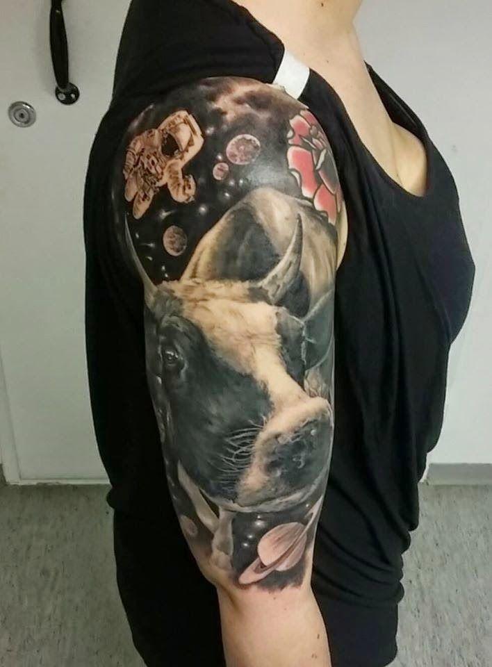 JP Wikman | Tattoo Art Project Cow tattoo