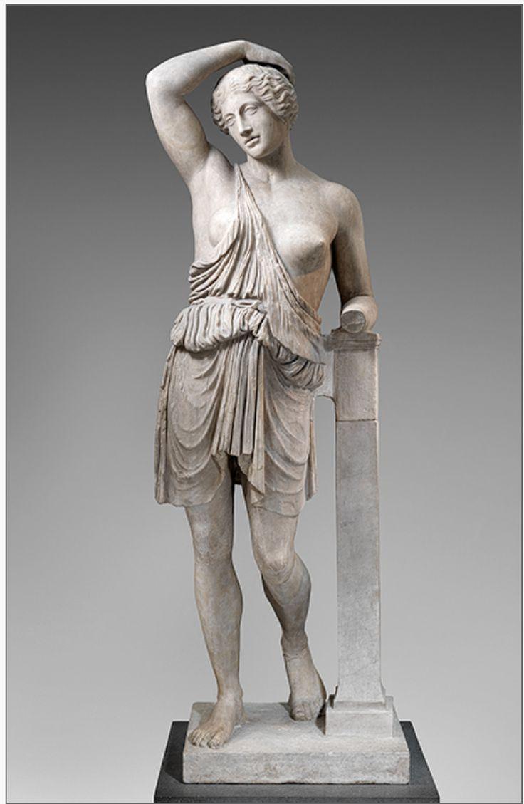 Статуя раненой Амазонки, 1-2 век н.э., римская копия греческой бронзовой статуи, около 450-425 до н.э., Мрамор (Pentelic), Метрополитен-музей, Нью-Йорк. ---------- Statue of a wounded Amazon, 1st–2nd century A.D., Roman copy of a Greek bronze statue, ca. 450–425 B.C. Marble (Pentelic), Metropolitan Museum of Art, New York.