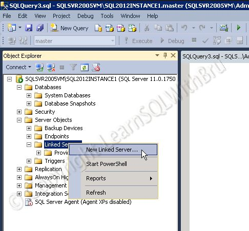 Create Linked Server to connect to another SQL Server Part – I #link #server #sql http://idaho.remmont.com/create-linked-server-to-connect-to-another-sql-server-part-i-link-server-sql/  # Create Linked Server to connect to another SQL Server Part I This is the first blog in a 2 part series on how to create Linked Server to connect to another SQL Server (Instance) and run queries using the created Linked Server. These 2 blogs will give you step by step instructions to create Linked Server on…