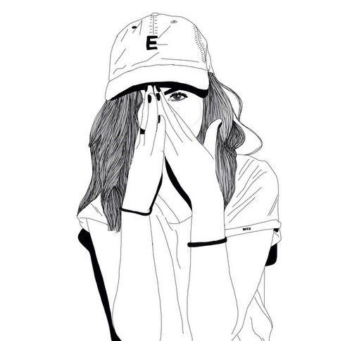 Art Black Doodles Drawings Fashion Girl Grunge Indie Outline