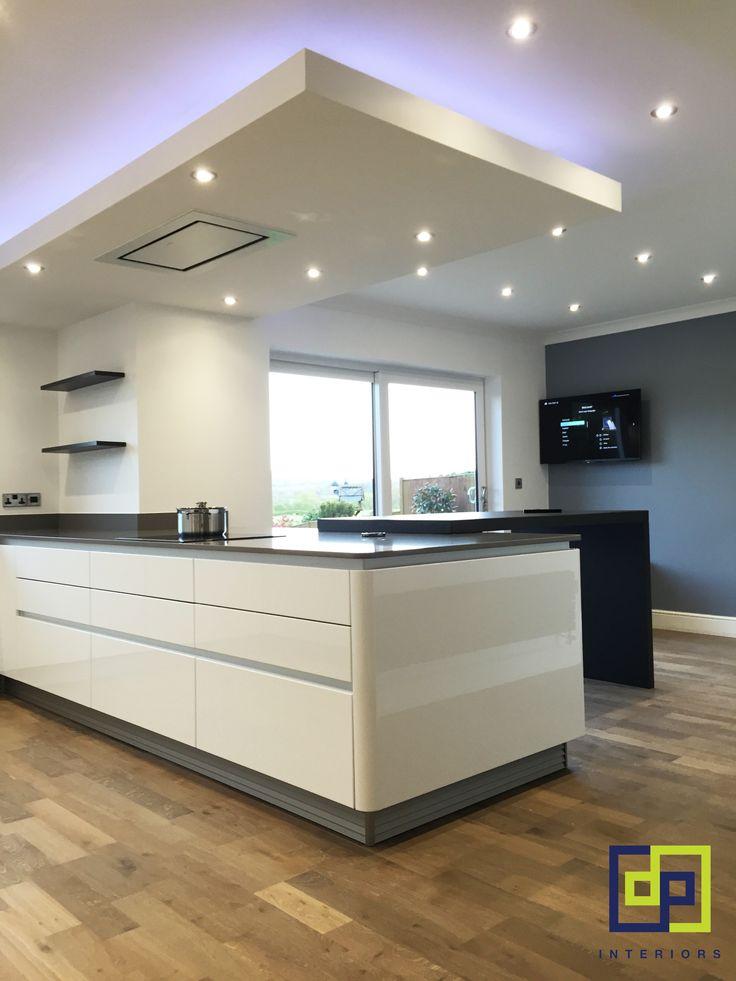 kitchen peninsular german next125 lighting feature