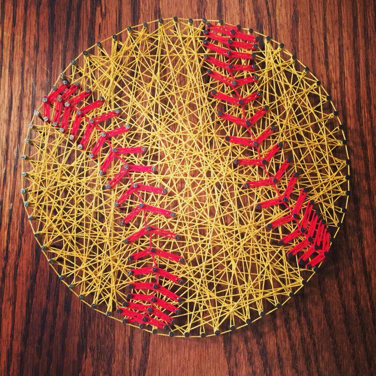Softball, string art