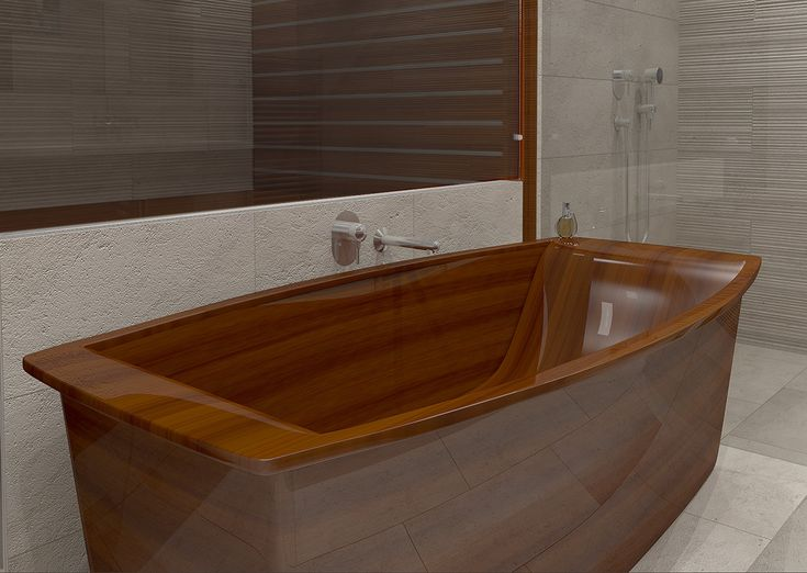 If The Idea Of A White Plastic Bathtub Seems A Bit Predictable, Interior Wooden  Bathtubs