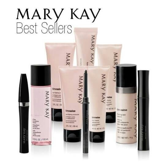 Mary Kay Best Sellers. Since i started using them i have kicked all other products to the curb and wont go back. Any doubts? register at my website and i will send you some samples. STILL not convinced, if you purchase ANY product and don't love it 100% you get your money back 100%. really what do you have to lose? :) www.marykay.com/alisondempsey