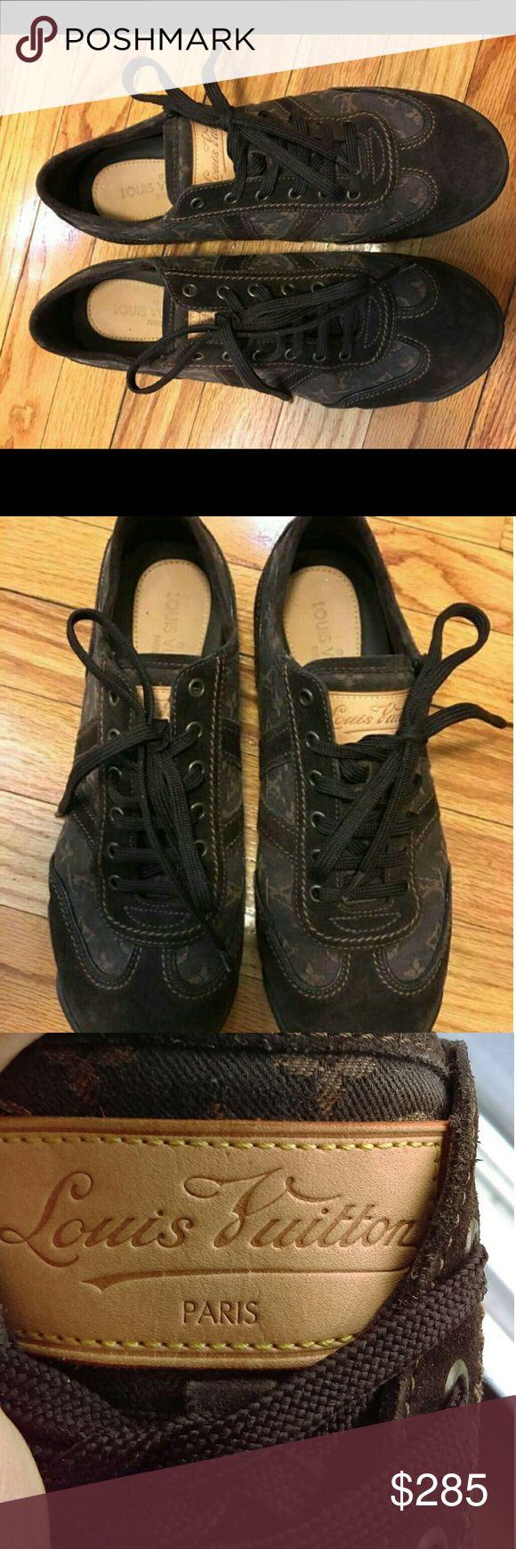 Louis Vuitton Denim/suede monogrammed sneakers 8 Mark Jacob's era Louis Vuitton Denim/suede monogrammed sneakers 8 men's US 7UK. Excellent used condition. Louis Vuitton Shoes Sneakers