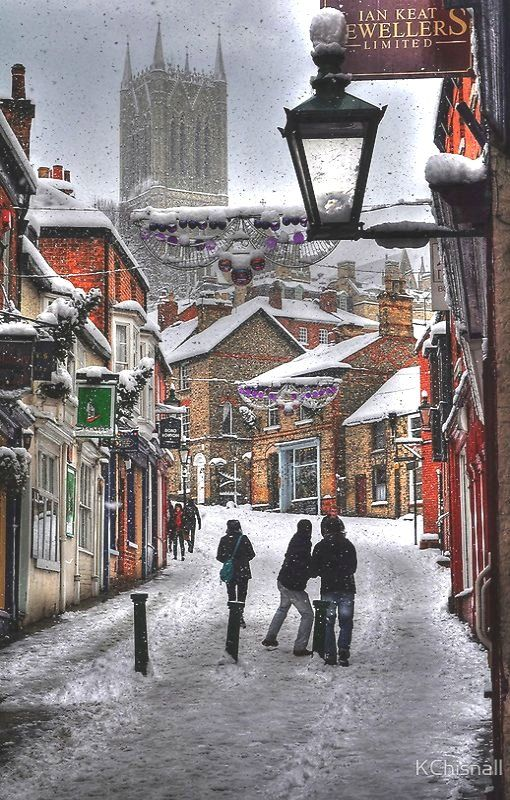 A Winter Scene Lincoln, England by Kchisnall.