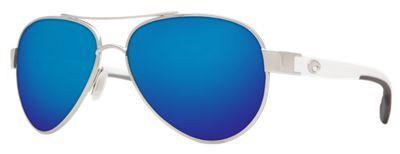 Costa Loreto 580P Polarized Sunglasses - Palladium+White/Blue Mirror