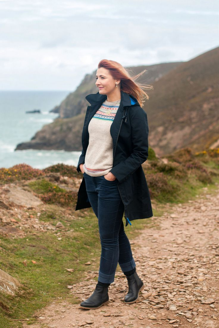 Poldark country in Cornwall was the perfect setting to test out a 100% waterproof Seasalt raincoat along with an outfit perfect for walking clifftops.