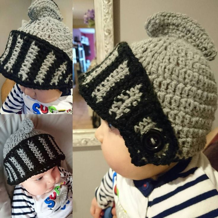 Listooooo!!!! Reto de @pinoxet conseguido. Gorro en forma de casco de caballero.  Mola mil hacer cositas para tu bebe... #crochet #handmade #yarn #crochetaddict #crocheting #knitting #diy #crochetlove #knit #baby #ganchillo #instacrochet #wool #كروشيه #haken #cute #hat #crocheted #hechoamano #fashion #croche #cotton #yarnaddict #homemade #crochetersofinstagram #cap #cool #boy #tricot #bebehat