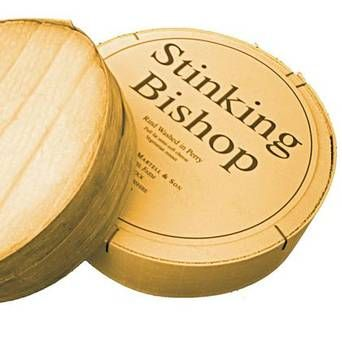 (7) Stinking Bishop Stinking Bishop smells of old socks, but it tastes divine. The rind is washed in perry, made from the Stinking Bishop pe...