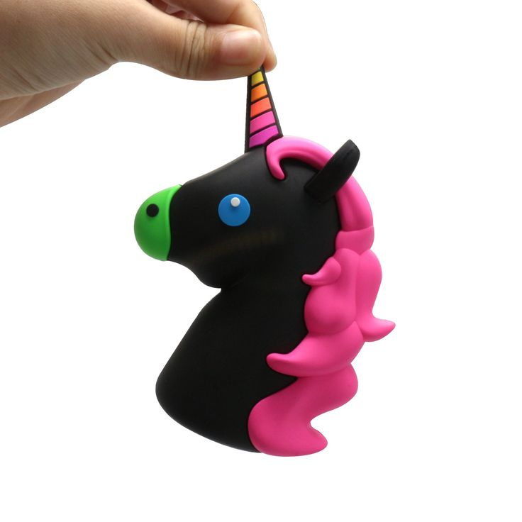 NIGHTRIDER Black Unicorn Emoji // Portable Charger Power Bank