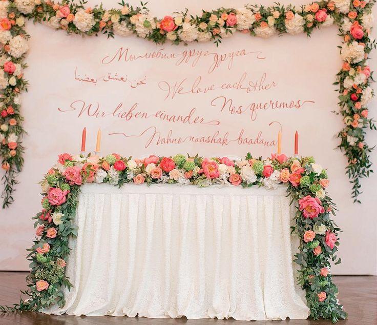 77 отметок «Нравится», 2 комментариев — Организация свадеб ♡ #marywed (@marywed) в Instagram: «И общий план стола молодожёнов Оформление - @myataflowers #mary_wed #marywed #mary_wed_за_работой»