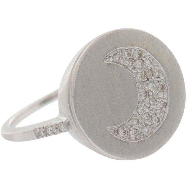 CAROLINA BUCCI Lucky Diamond Ring ($2,561) ❤ liked on Polyvore featuring jewelry, rings, diamond band ring, glitter ring, glitter jewelry, engraved jewelry and diamond rings