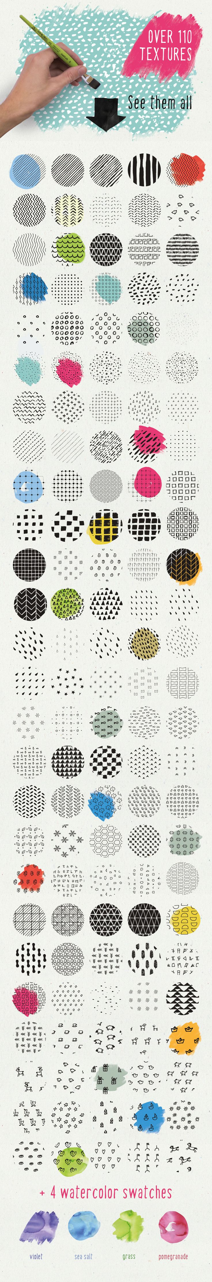 HandSketched Seamless Pattern Pack by Vítek Prchal on @creativemarket                                                                                                                                                     More