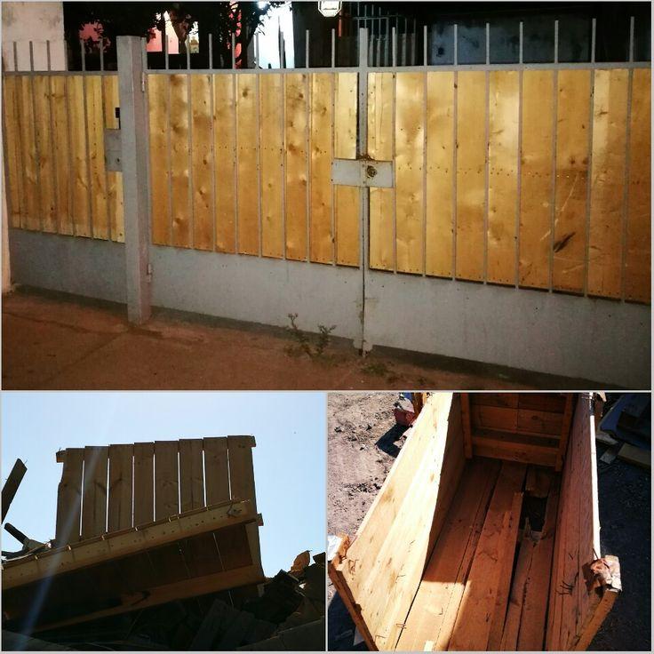 Wood proyect 8 Portón de madera reciclada #diseñorústico