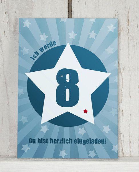 Einladung+8.+GEBURTSTAG+von+KLEINE+KERLE+auf+DaWanda.com