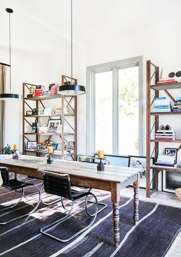 Tour An Interior Designers Ultra Cool Malibu Farmhouse TableInterior Design InspirationWorkspacesOffice