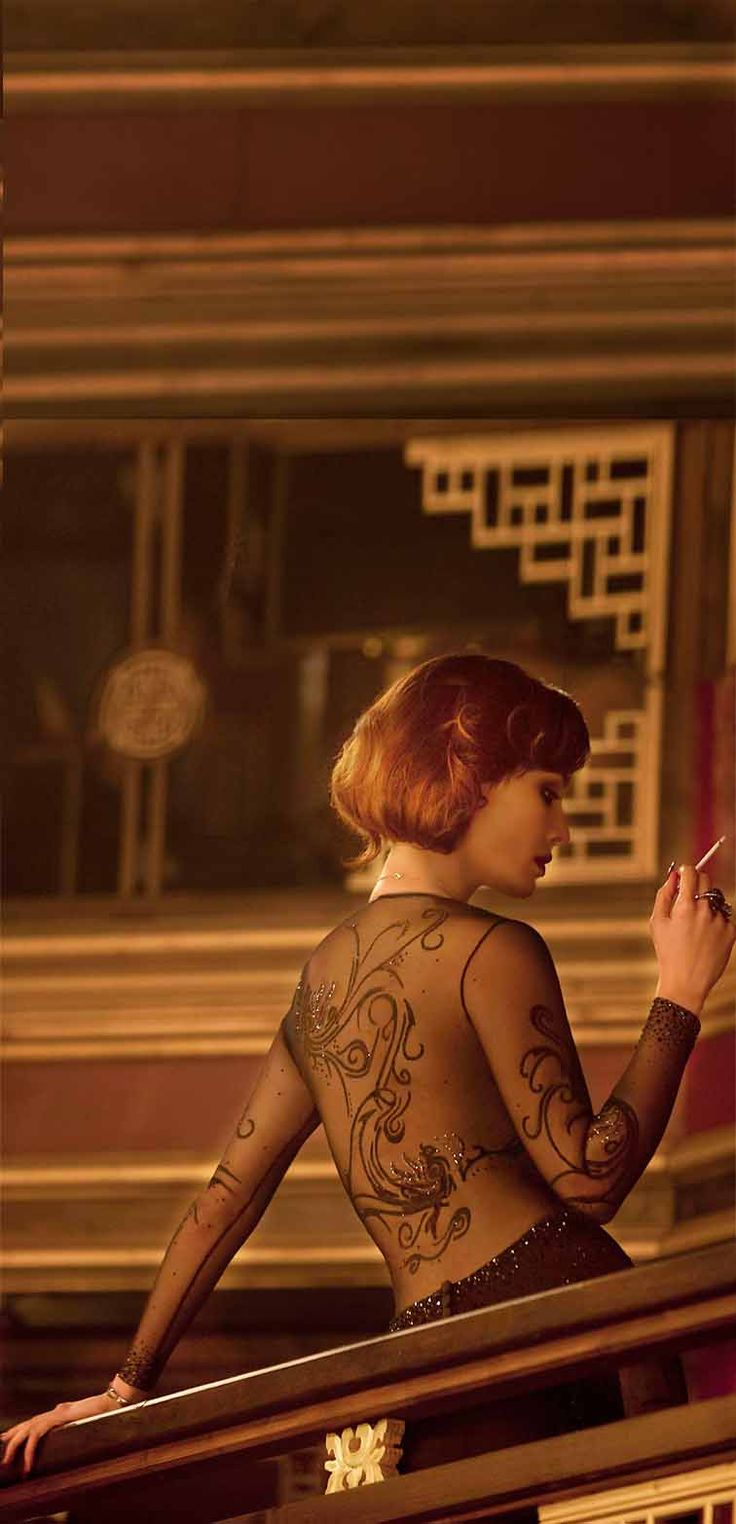 Berenice Marlohe as Severine in a dress adorned with Swarovski elements in James Bond Skyfall, 2012.