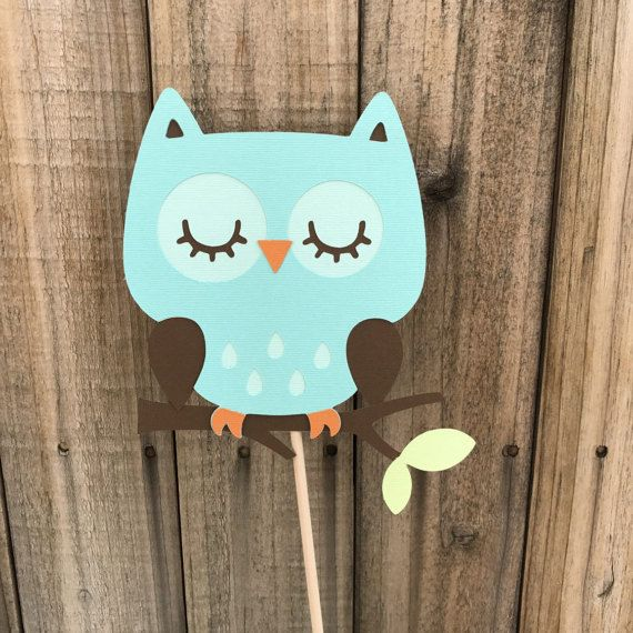 Aqua Owls set of 4