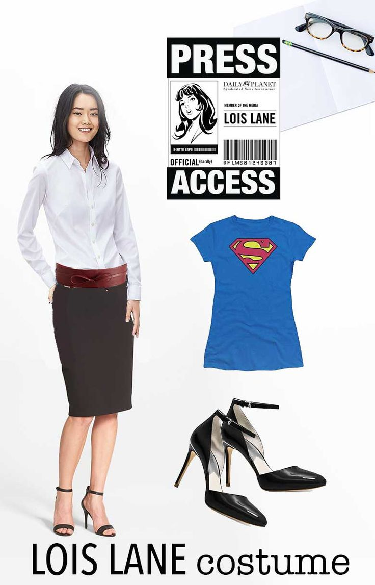 Lois Lane costume - shopping list what you need for your superhero Halloween costume