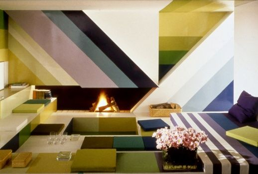 22 best super graphic images on pinterest facades jean philippe and color inspiration for Sunken living room wikipedia