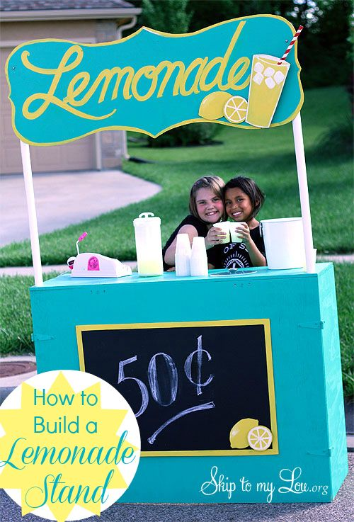 The Best plans to build your own lemonade stand!  Best thing is it folds flat! www.skiptomylou.org
