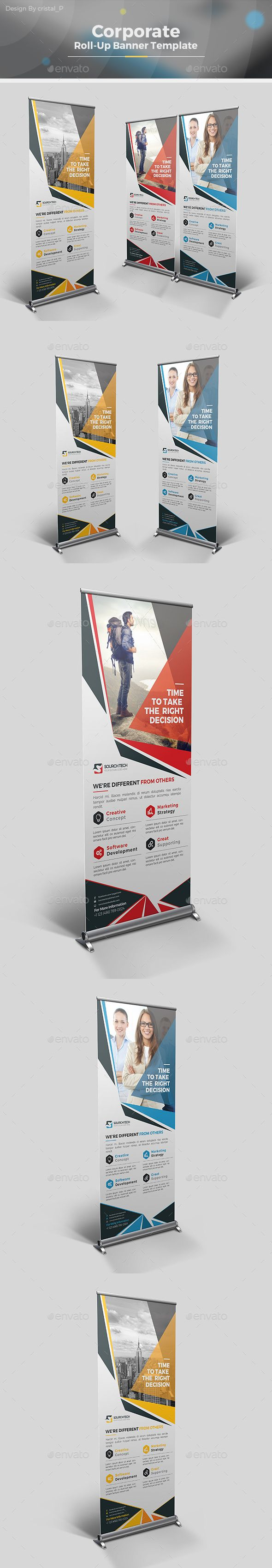 Business Roll Up Banner by CRISTAL_P Corporate Roll-up Banner Template Designis very easy to use andchange text,color,size,look and everything so please don't worry ab