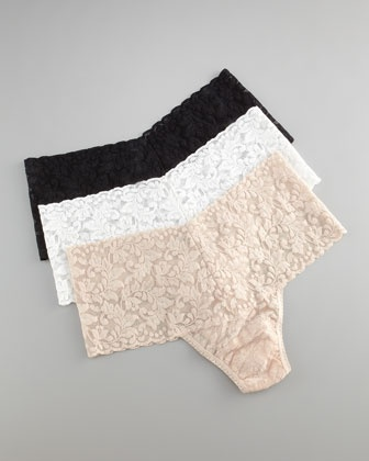 Signature Lace Retro Thong by Hanky Panky at Neiman Marcus.