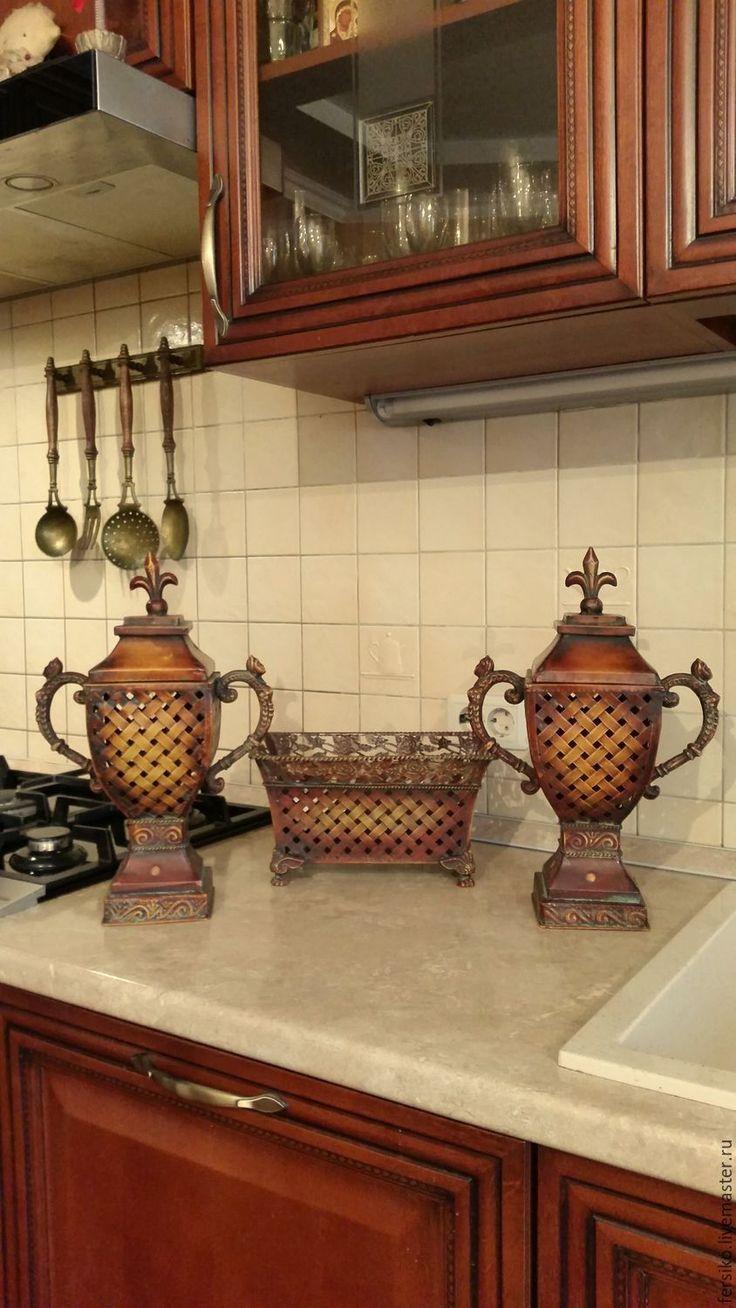 Купить Старинный набор: большие подсвечники и жардиньерка!!! - старинные подсвечники, винтажные подсвечники, подсвечники с крышками