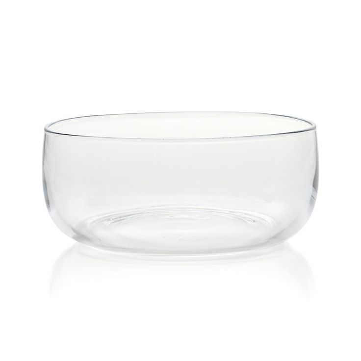 Ollie Large Glass Bowl   Crate and Barrel