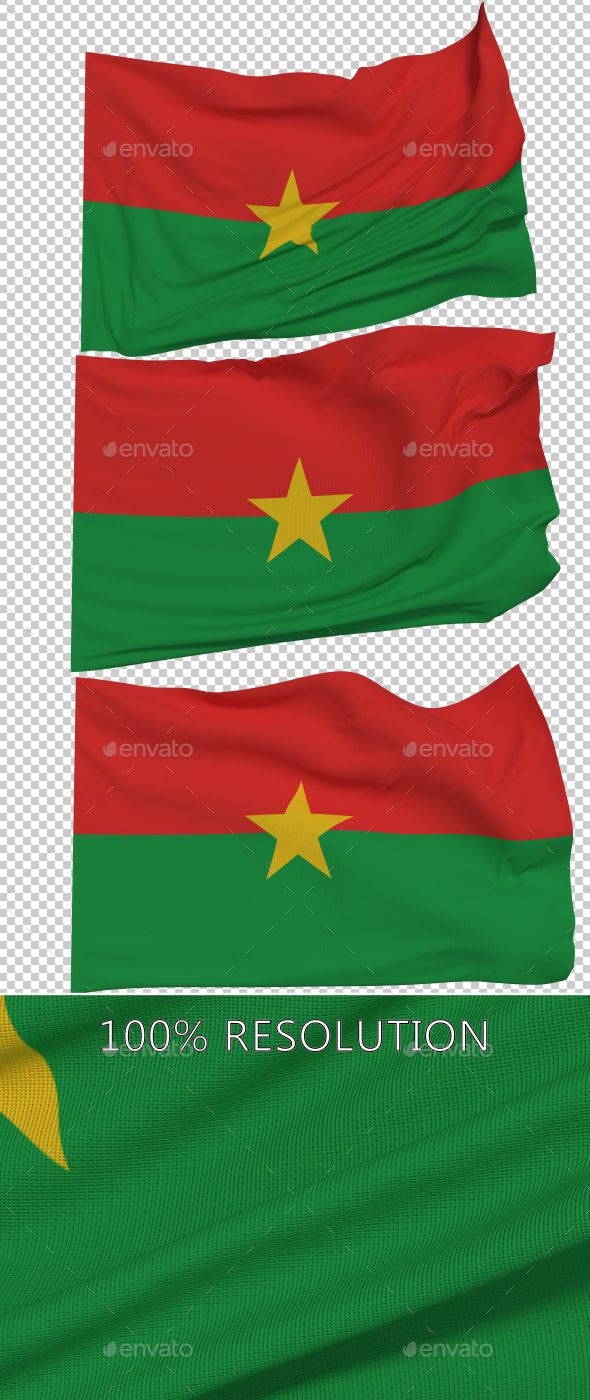 Flag of Burkina Faso - 3 Variants