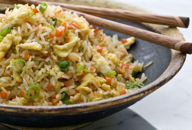 Κινέζικο τηγανιτό ρύζι Κινέζικο πιάτο για σήμερα.