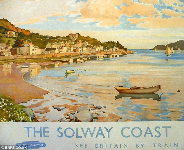 Trainspotter's collection of old railway posters set to sell for £1million | Daily Mail Online