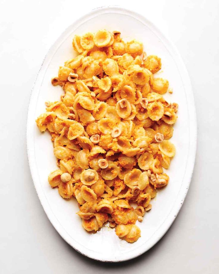 Orecchiette with Carrot-Hazelnut Pesto