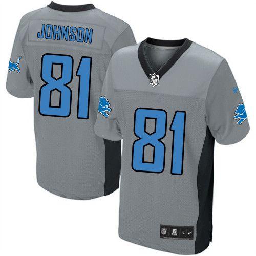 mens nike detroit lions 81 calvin johnson limited grey shadow nfl jersey
