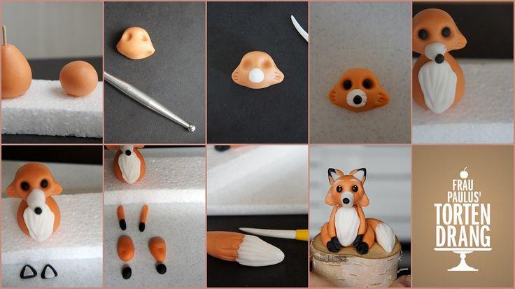Tutorial Fuchs aus Modellierfondant