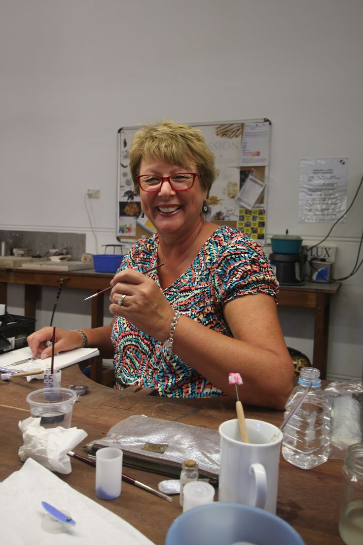 A very happy student in our jewellery studio