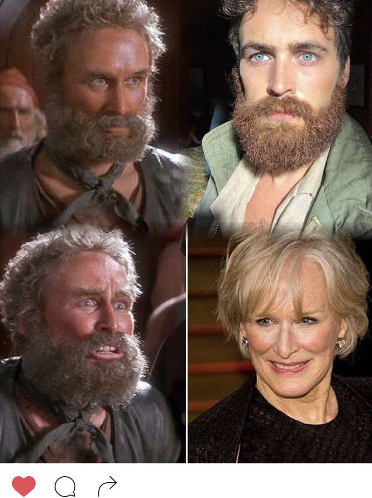 So apparently when I grow out my beard I look like Glenn Close in Hook. #boobox