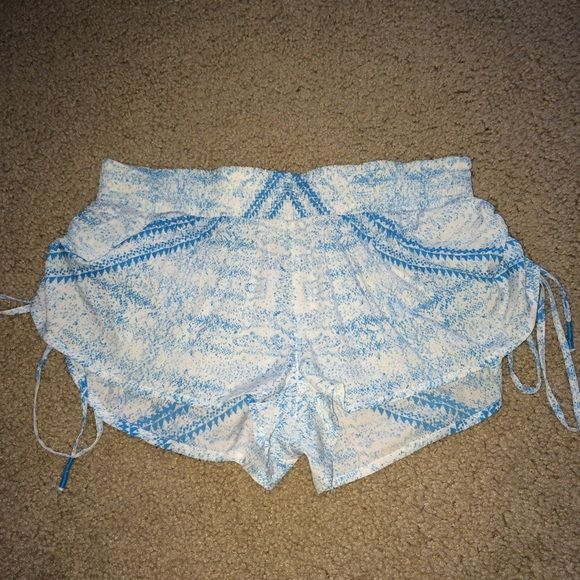Rip curl shorts Cute rip curl blue and white shorts! Perfect for wearing over bathing suits. Worn once on a vacation and in perfect condition(: acacia swimwear Shorts