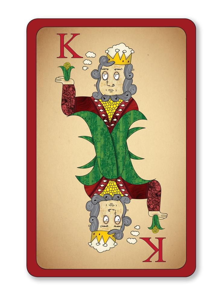 King Kernel playing card