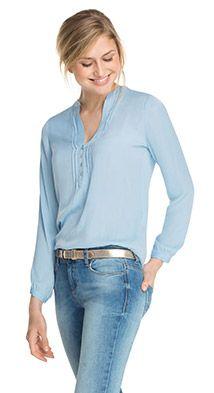 Esprit / Laskeutuva paitapusero hiuslaskoksin - have to think about if I need long sleeved for summer.