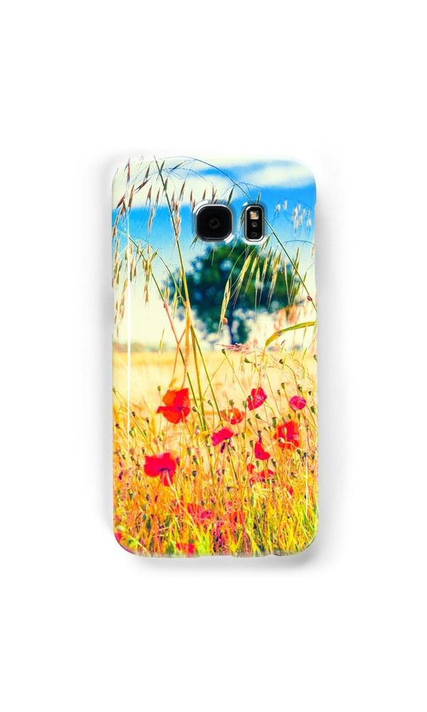 #Poppies and tree in the distance by Silvia Ganora - #phonecase #iphonecase #galaxycase #redbubble #nature #summer - Also available as #prints #pillows #totebags