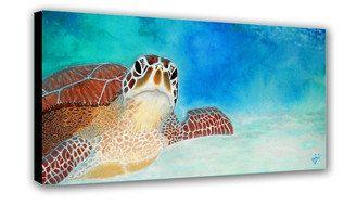 Turtle Art Sea Turtle Decor Sea Turtle Print by SAXONLYNN