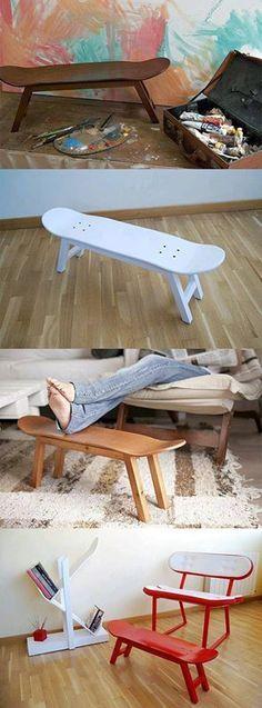 DIY skateboard bench