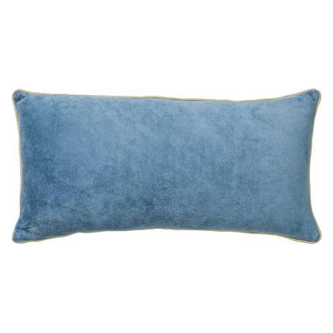 כרית העשויה 100% כותנה קטיפתית מלבנית בצבע כחול. הכרית בעלת ריצ'רץ' המאפשר הסרה וכיבוס. חומרים:...