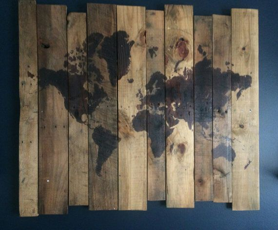 7 best world map images on pinterest pallet wood world maps and pallet art 40x45 world map design by plaiddadwoodcrafts on etsy gumiabroncs Choice Image