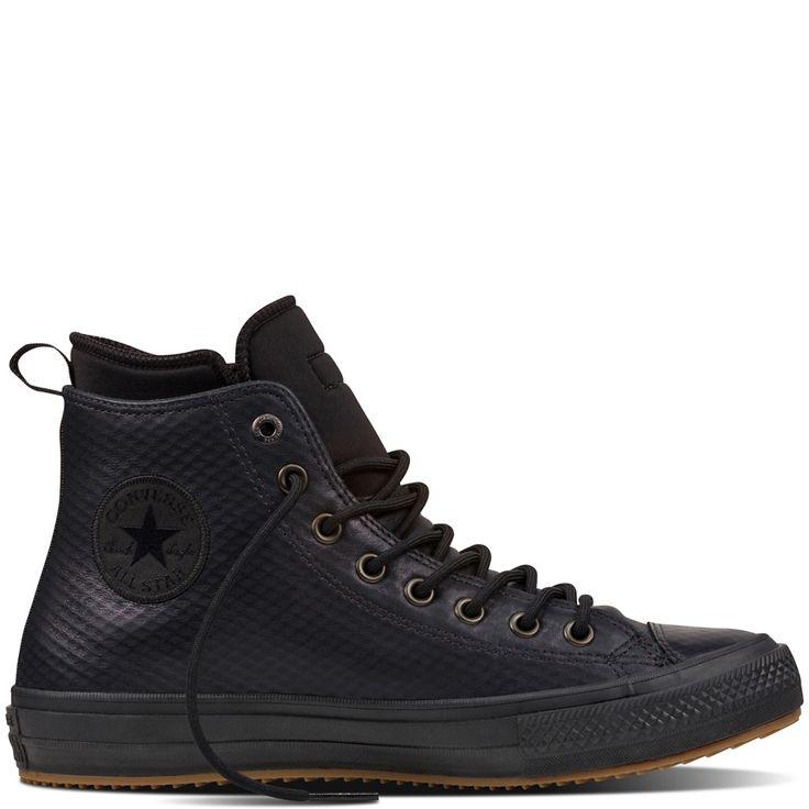 Chuck II Waterproof Mesh Backed Leather Boot Black black
