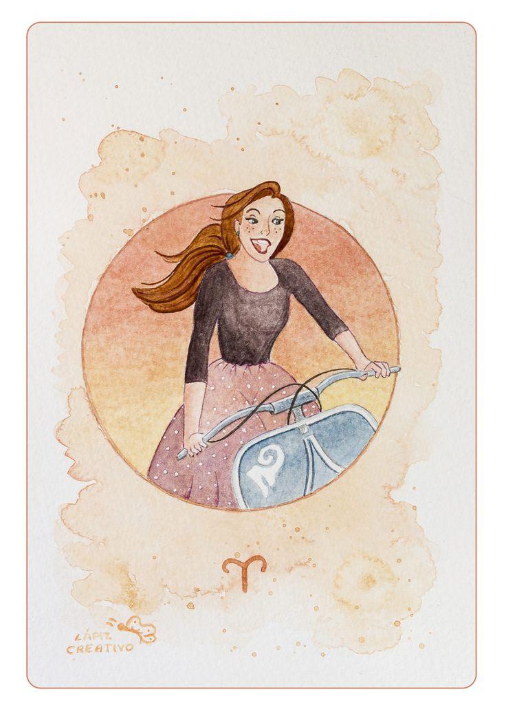 Cuadro Lámina #Aries de LapizCreativo en  Etsy #print #deco #illustration #watercolor