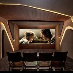 8SEC. - SHOWROOM HOME CINEMA: minimalistischer Multimedia-Raum von Barefoot Design