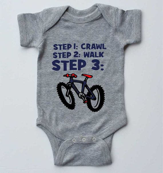 Infant bodysuit-MOUNTAIN BIKE BABY-Gender Neutral by SpokeNwheelz